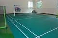 Movable badminton floor mat