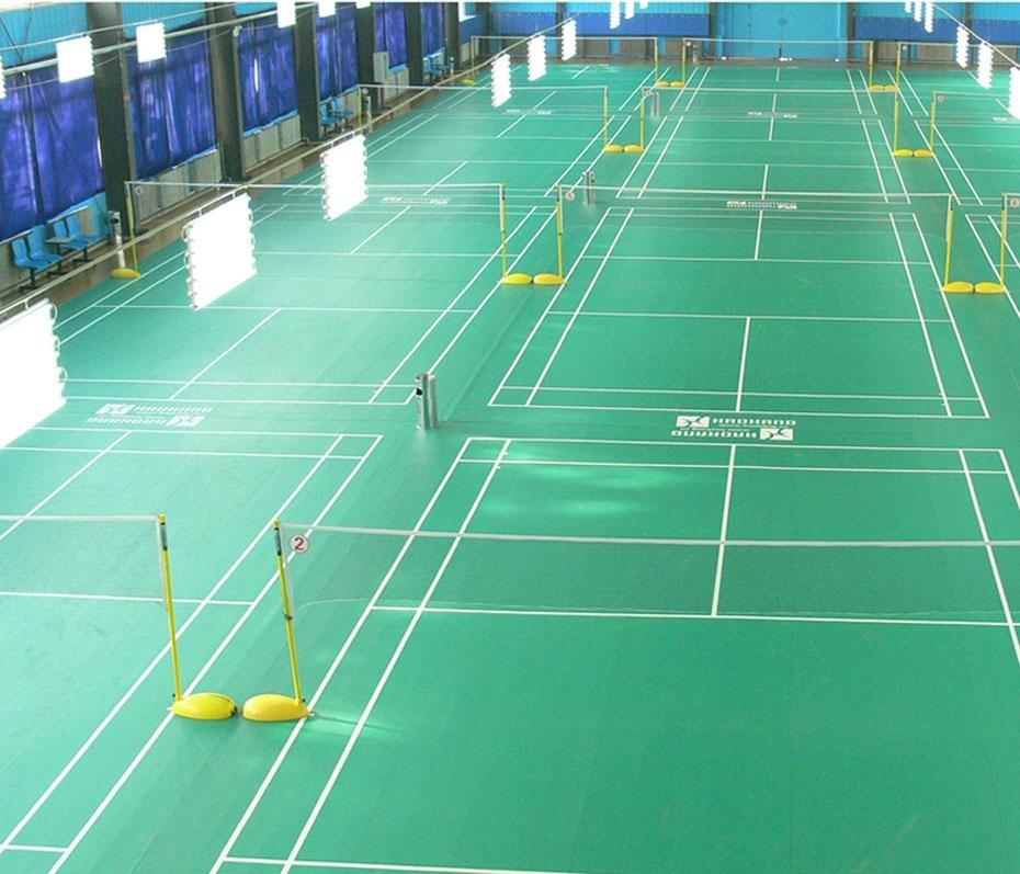 Portable badminton court floor mat hk1 1002 haokang for Sport court flooring cost