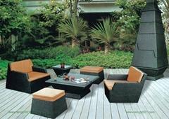 M1069重叠式藤艺沙发(户外家具、藤椅)