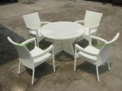 绿色齐家M051藤椅(户外家具、藤艺家具)