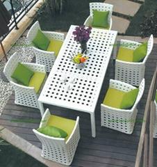 绿色齐家B608藤椅(深圳藤椅、户外家具)
