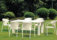 綠色齊家M1248藤椅(深圳藤椅、戶外傢具)