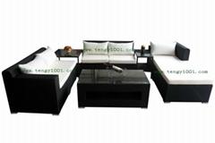 绿色齐家M1248藤沙发(户外家具、藤椅)