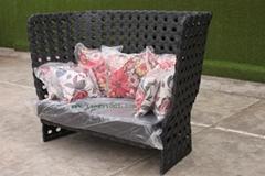 綠色齊家M1305-3藤藝沙發(戶外傢具、藤藝傢具)