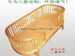 幼儿園儿童藤床(藤椅、藤藝傢具)