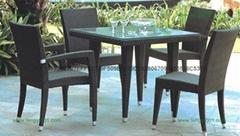 M663户外家具重叠式藤椅