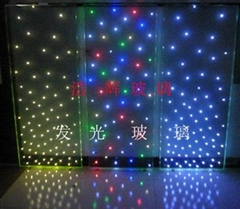 LED发光玻璃  LED发光LOGO