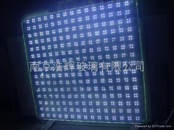 LED幕牆裝飾玻璃  發光玻璃幕牆 2