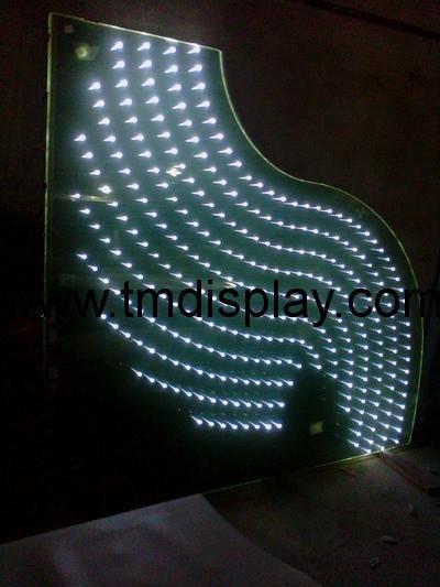 LED幕牆裝飾玻璃  發光玻璃幕牆 3
