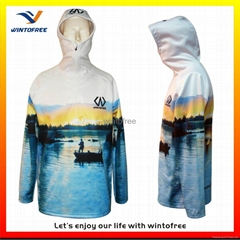 Custom made sublimation tournament Fishing Jerseys with hoodies