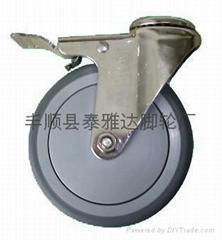 5寸中型不鏽鋼腳輪