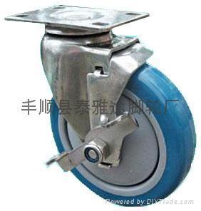 4寸中型不鏽鋼腳輪 1