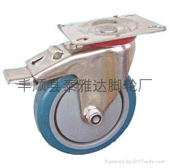 4寸中型不鏽鋼腳輪 4