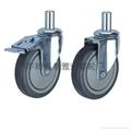 泰雅達5寸插杆式TPR腳輪