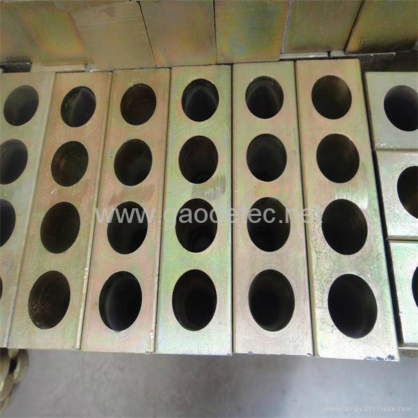 Post Tension Wedge Plate : Post tension prestressed concrete anchor block with wedges