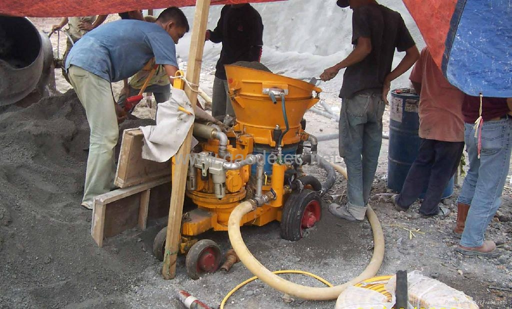 gunite machine working in Malaysia