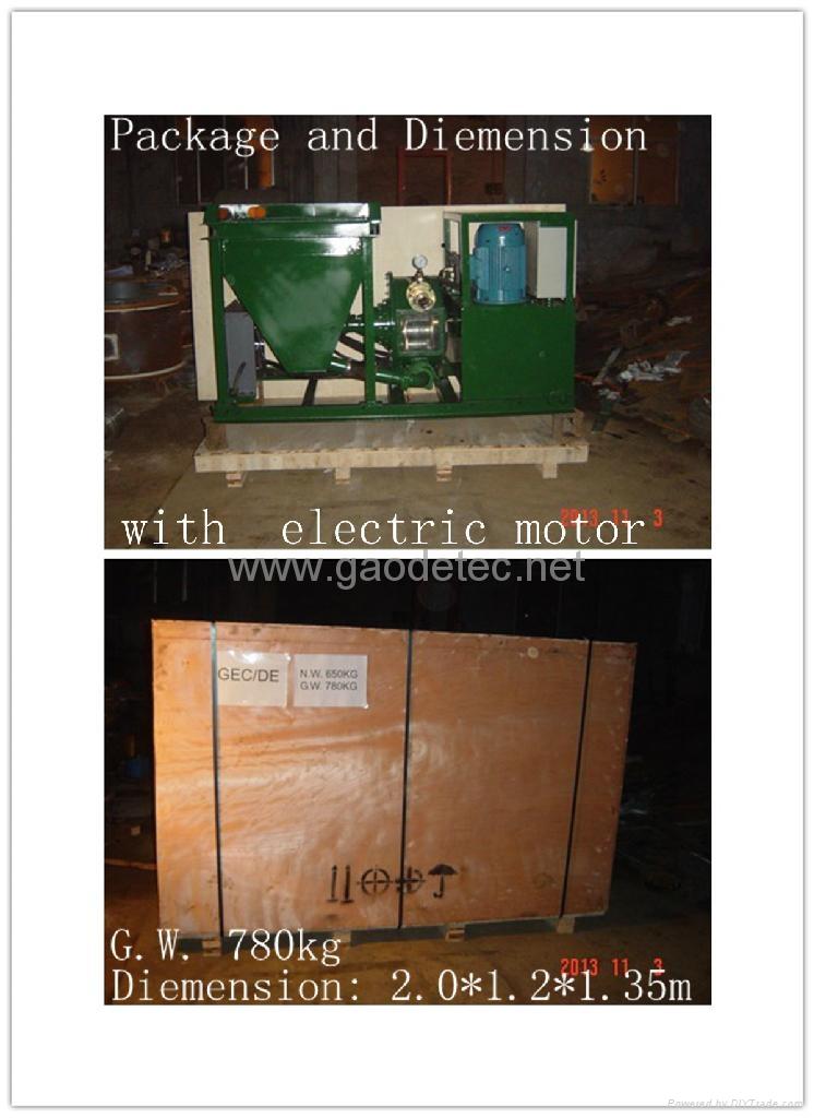deliver small size wet shotcrete machine to customer