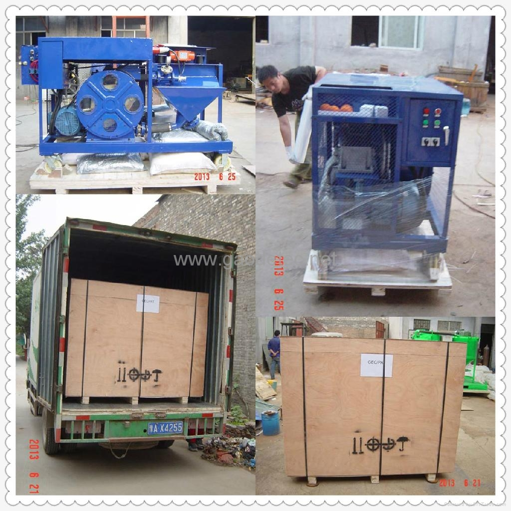 Packing and delivering of GMP40/10-H Hose type Mortar Pump Spraying Machine