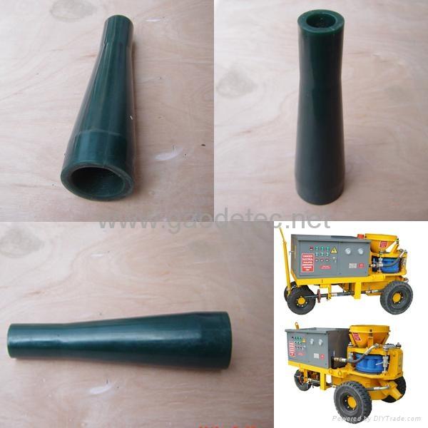 shotcrete spray nozzle for concrete spraying machine