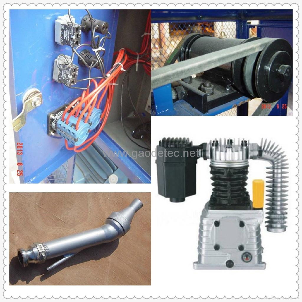 Detailed parts of GMP40/10-H cement plastering machine