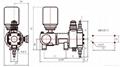 hydraulic diaphragm high pressure metering pump