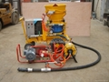 customize yellow refractory gunning machine with booster water pump