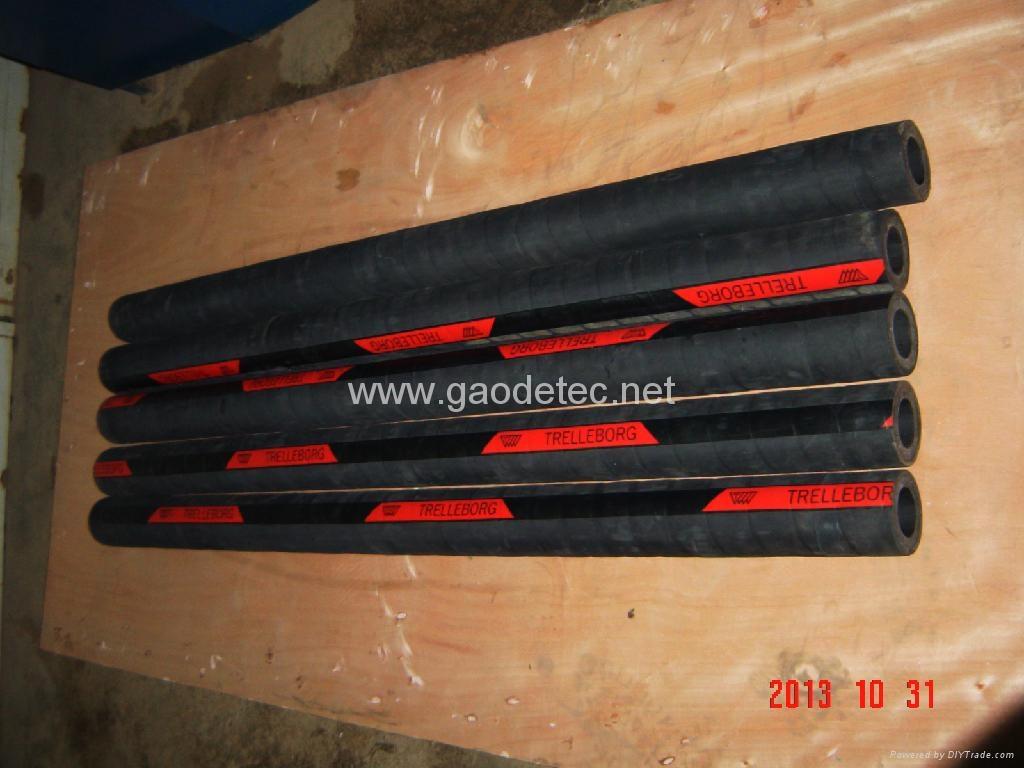 Trelleborg hose, more resistance, pumping mortar, foam concrete, concrete etc. material