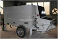 concrete spraying pump in difference angles