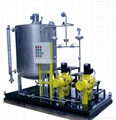 plunger dosing pump with metering tank