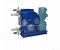 hose pump for conveying and spraying of mortar and concrete