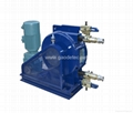 hose pump for conveying of beer, wine, milk, juice, additive and residue