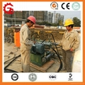 dual cylinders and single action hydraulic grouting pump