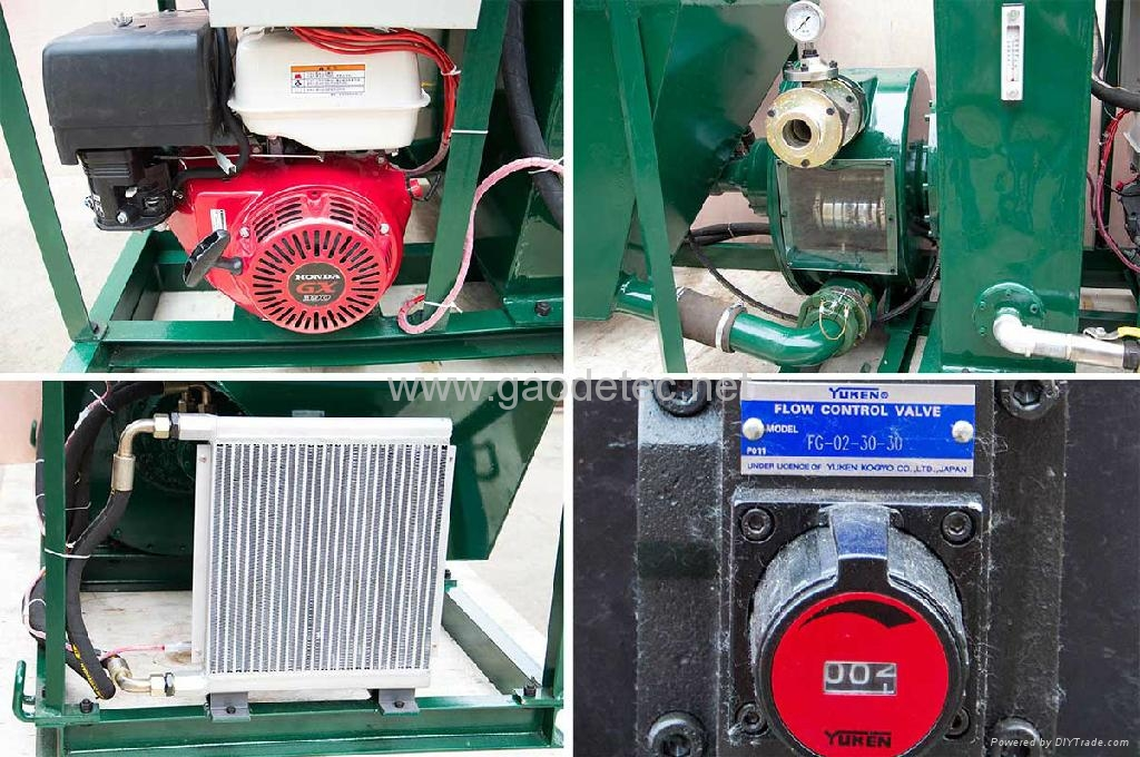 Main spare parts of wet shotcrete pump