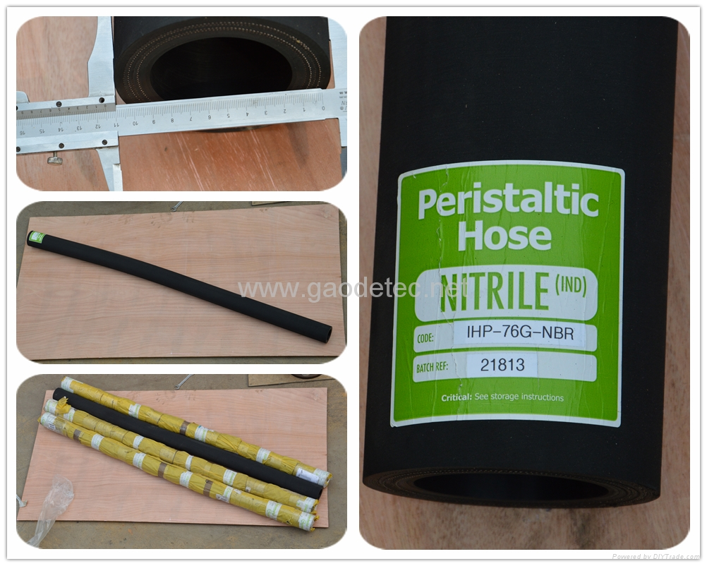 NBR squeeze hose tube for pumping oil slurries and sludge