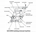 drawing of road marking removal machine
