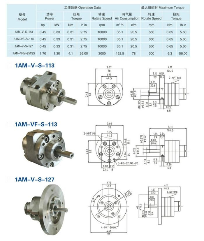 vane air motor price