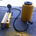 single acting hollow hydraulic cylinder with hydraulic hand pump