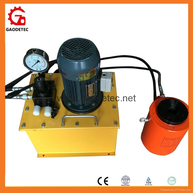 double acting jack with electric oil pump