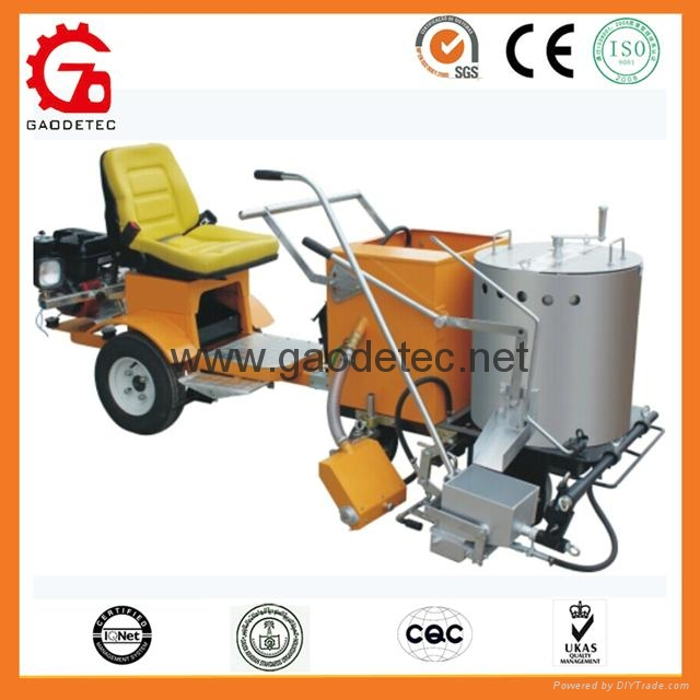 vehicle booster with road marking machine