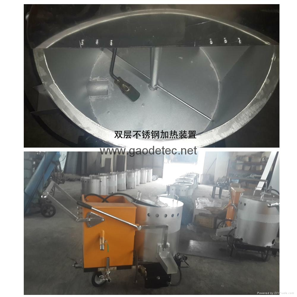 double stainless steel heating coating for road marking machine