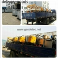Deliver road marking machine and thermoplastic heat kettle to customer