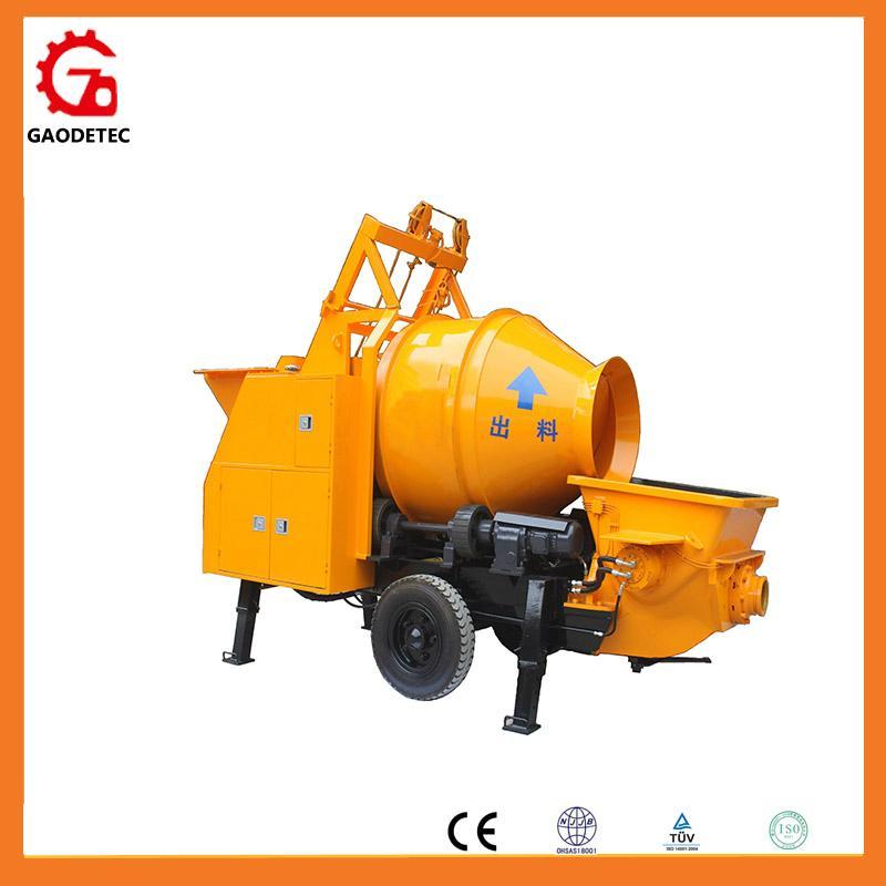 mixer with concrete pump