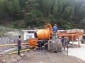 concrete pump and mixer