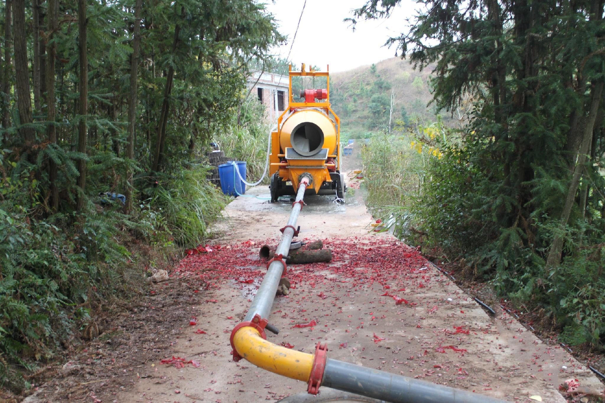 concrete mixer pump trailer for sale