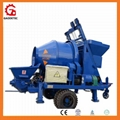 china made concrete pump with mixer