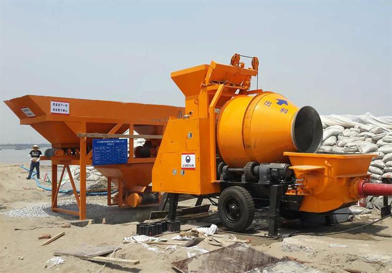 electric trailer concrete mixer pump