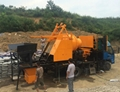 electric motor concrete mixer with pump