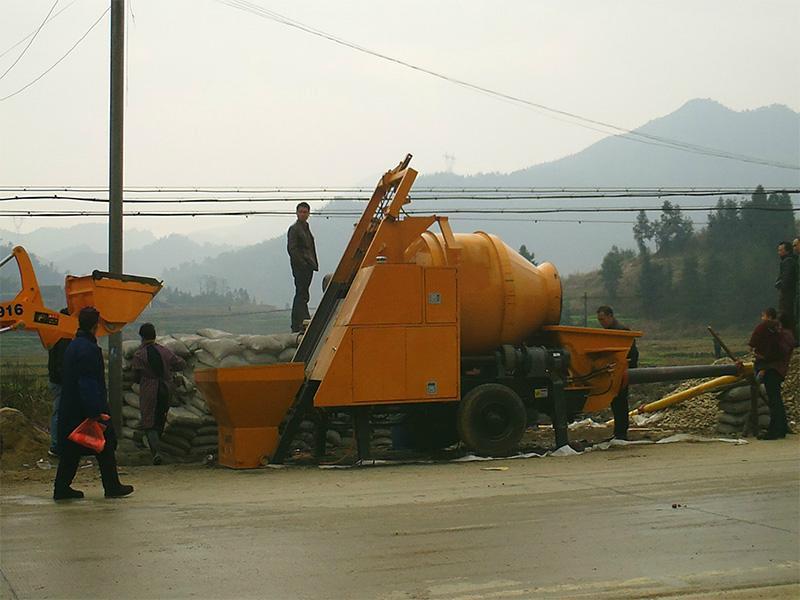 electric motor concrete pump mixer