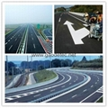 thermoplastic road marking paint was used for drawing lines on highway, street etc.