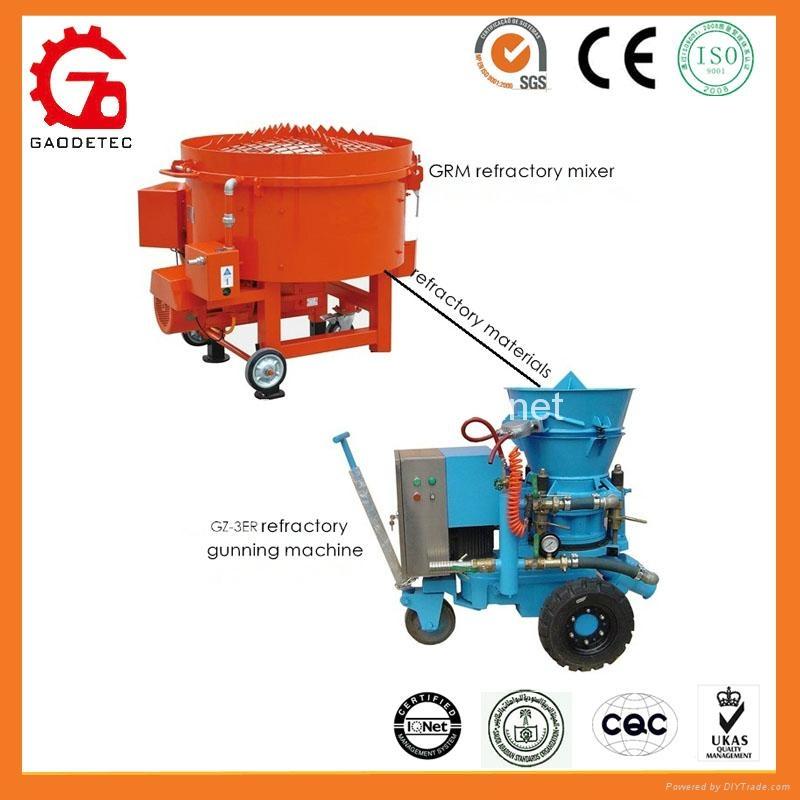 refractory gunning machine worked with mixer